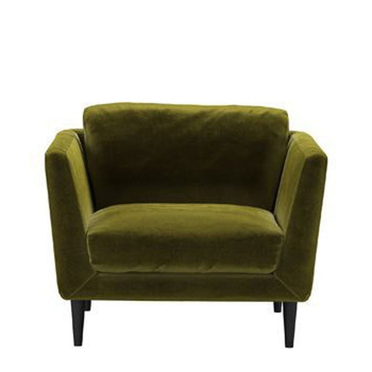 Holly Armchair, Olive Cotton Matt Velvet