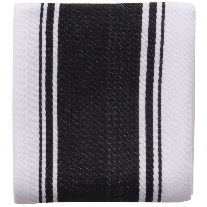 Striped Tea Towel, True Black
