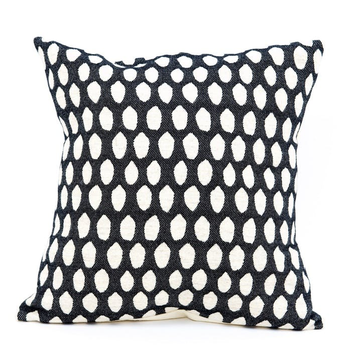 Elca Cushion - 40cm; Linen On Black