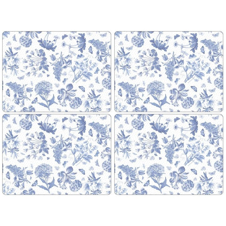 Botanic Blue Placemats, Set of 4