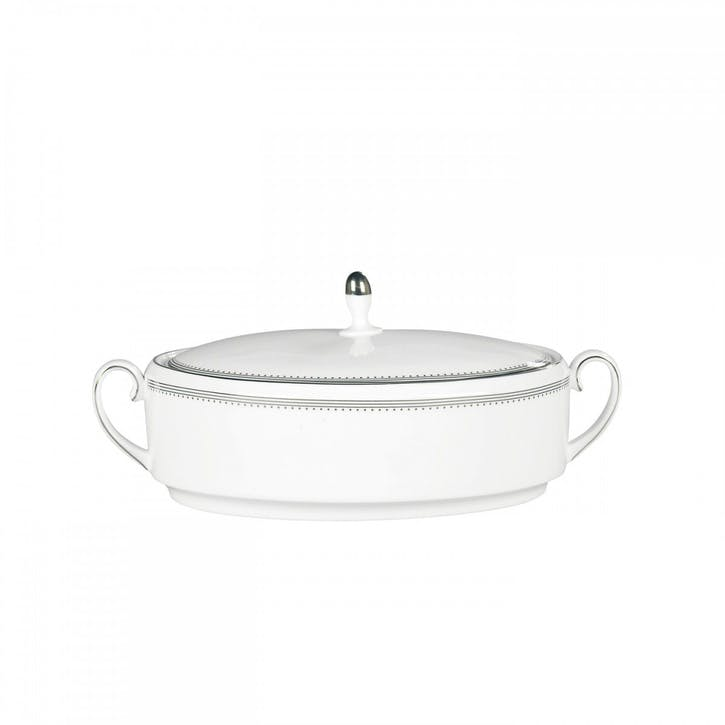 Grosgrain Lidded Vegetable Dish