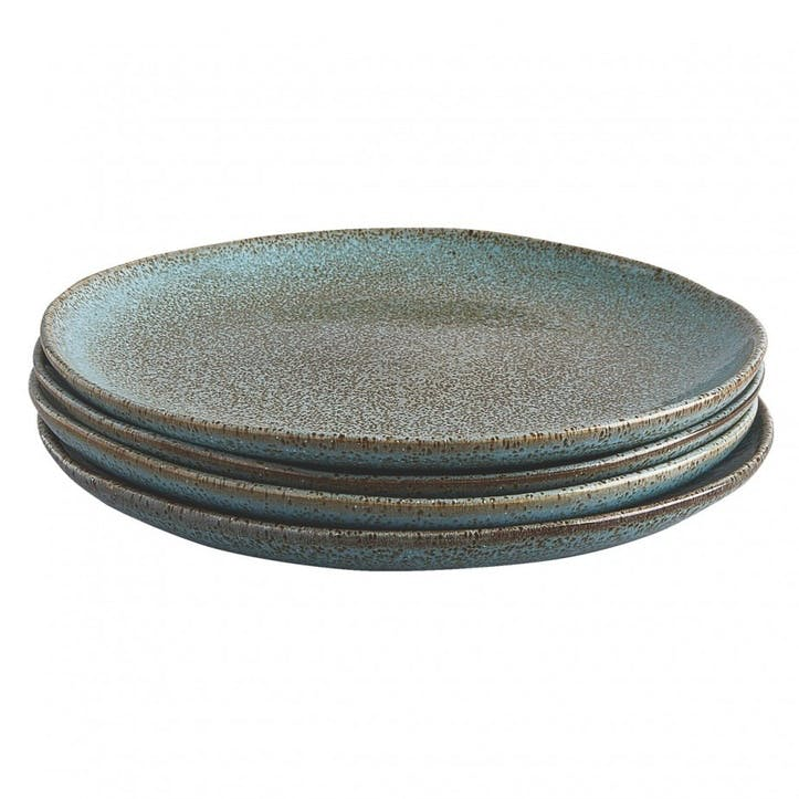 Olmo Dinner Plate, Set of 4, Turquoise