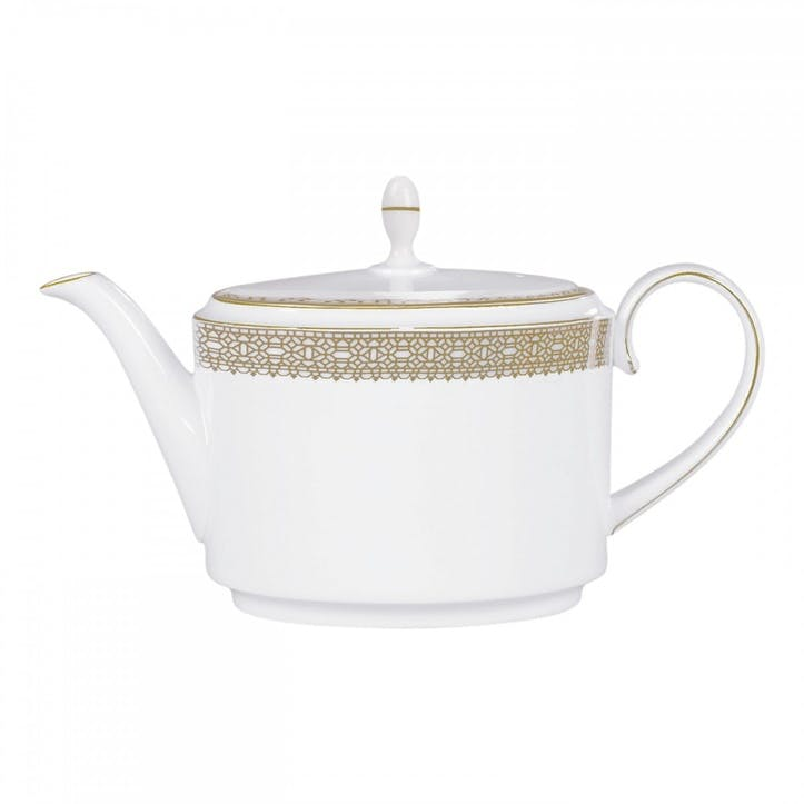 Lace Gold Teapot