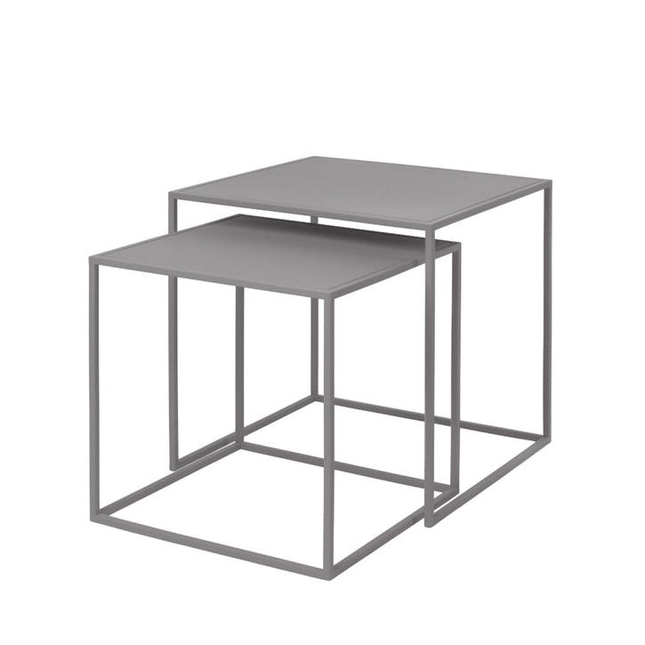 Fera Set of 2 Side Tables, Dove Grey