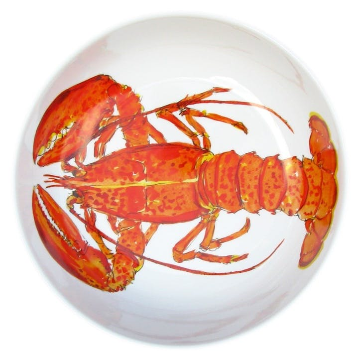 Red Lobster Round Bowl - 24cm