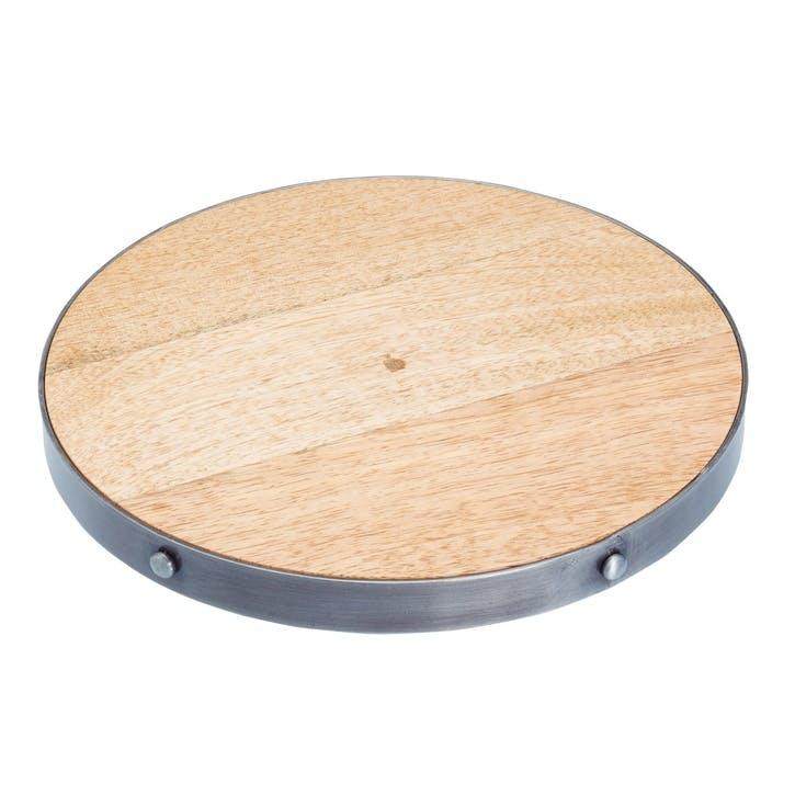 Industrial Kitchen Round Wooden Trivet / Teapot Stand