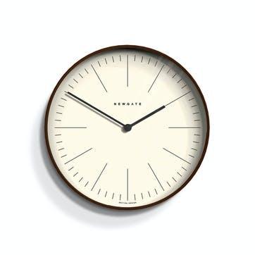 Mr Clarke Wall Clock, Dia. 28cm, Dark Wood