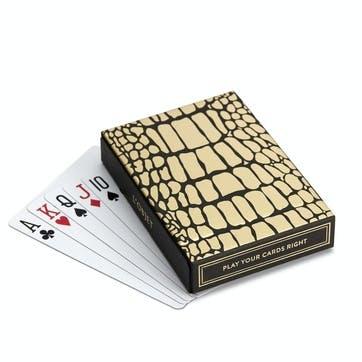Two Decks Playing Cards with Crocodile Box