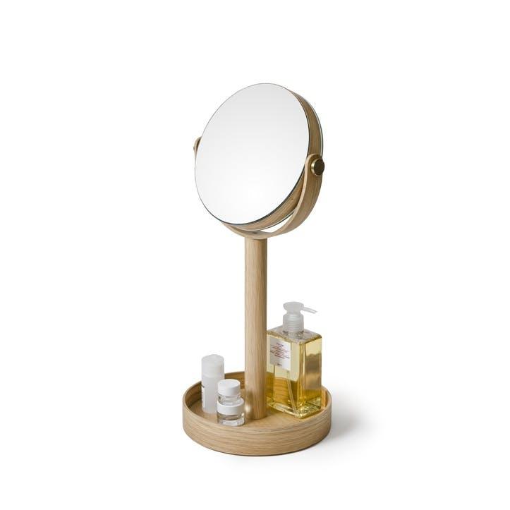 Close Up Mirror, Natural Oak