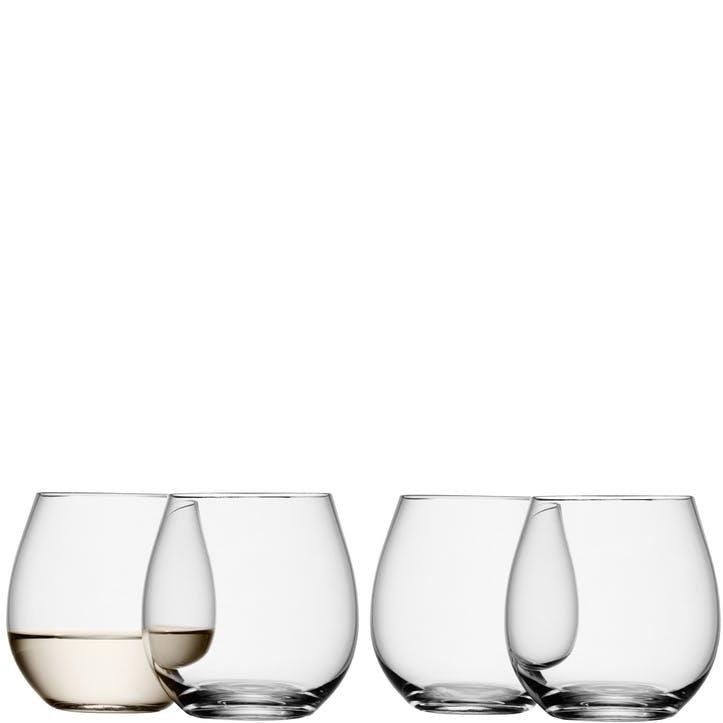 LSA Wine Stemless White Wine Glass 370ml, Set of 4