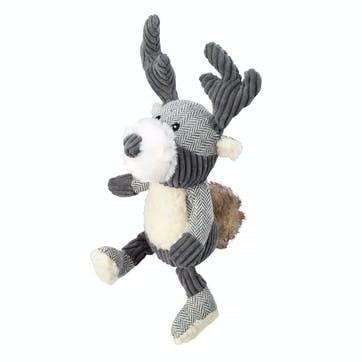 Bushy Tail Tweed Stag Dog Toy