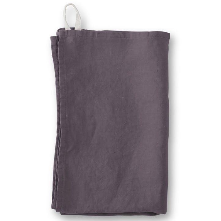Linen Tea Towel, Aubergine