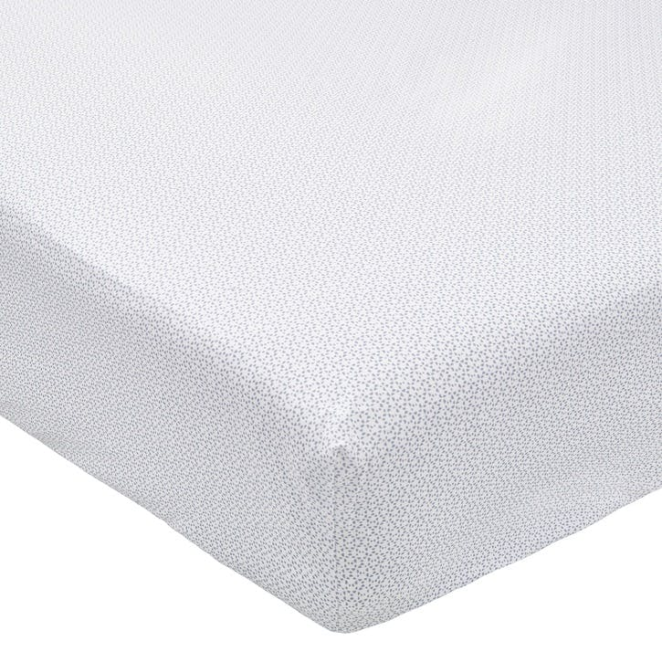 Mya Double Fitted Sheet, Sky Blue