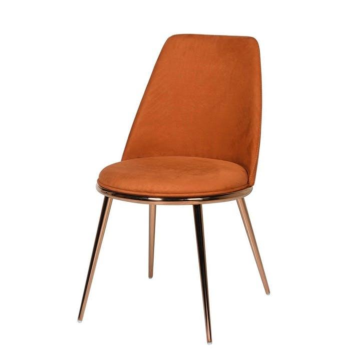 Nova Velvet Dining Chair, Orange