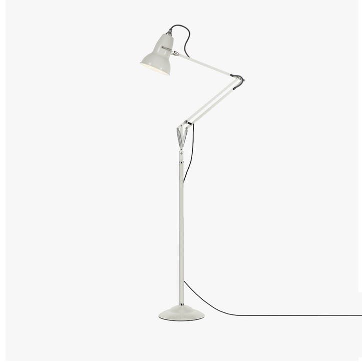 Floor Lamp Linen White