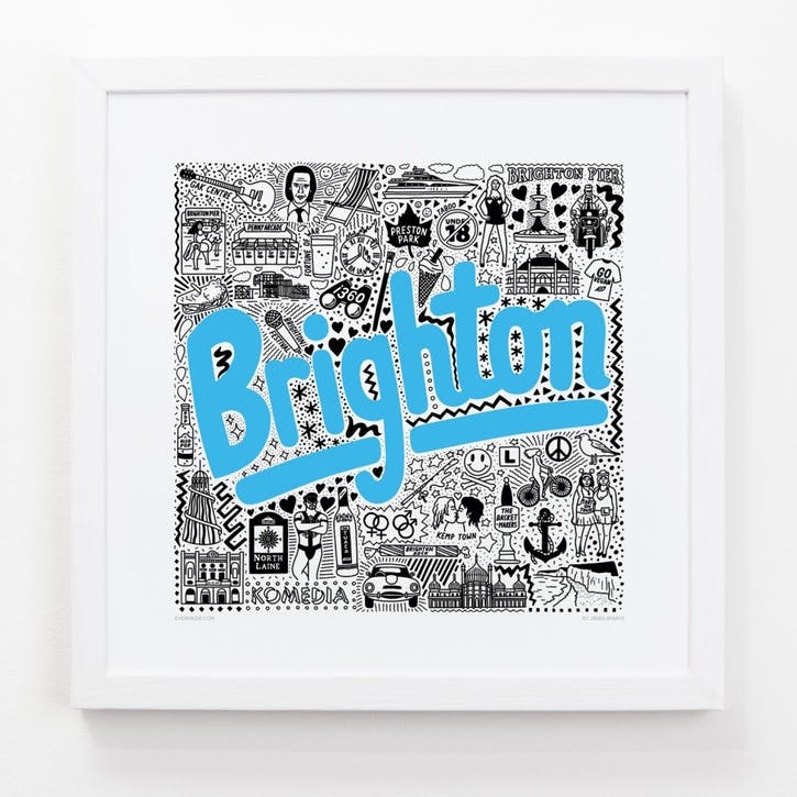 Hometown Brighton Print, 33cm