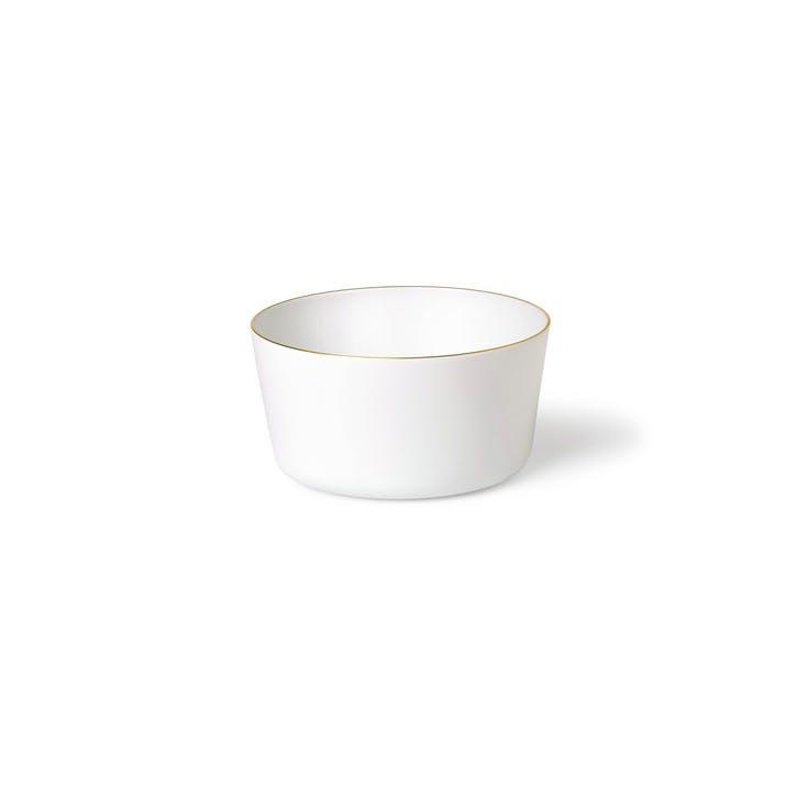 Seven Small Bowl, White & Gold