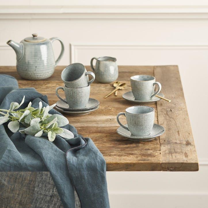 Jewel Stripe Teacup & Saucer