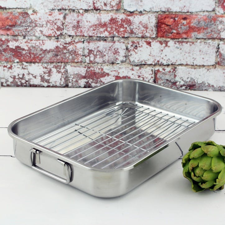Speciality Cookware Roasting Pan with Rack, 39cm
