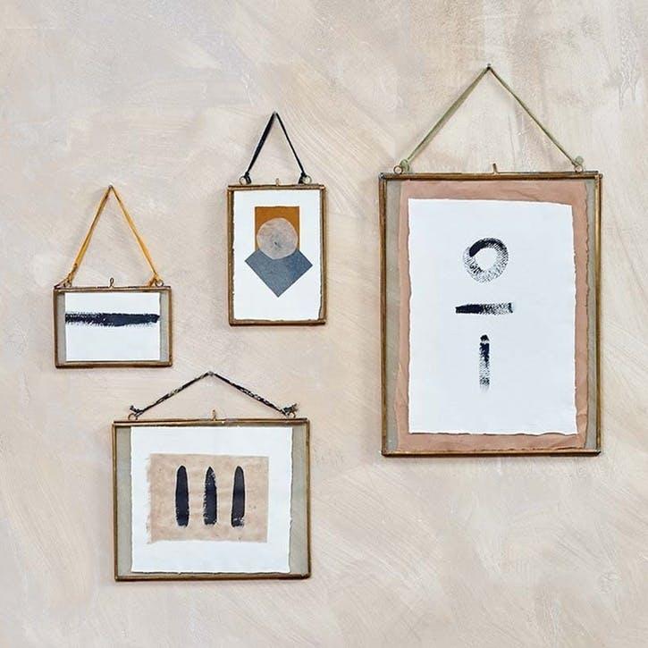 "Kiko Brass Frame - Landscape, 8 x 10"""