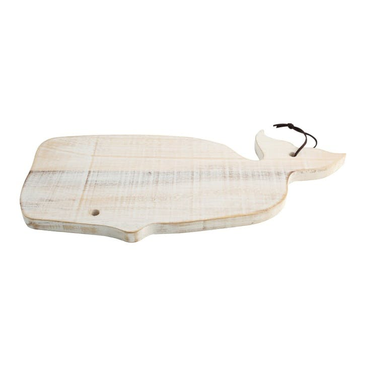 Ocean Whale Board, Rustic White
