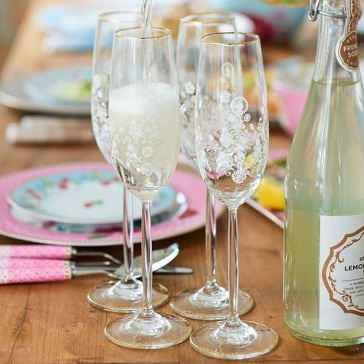 PiP Floral Champagne Flute