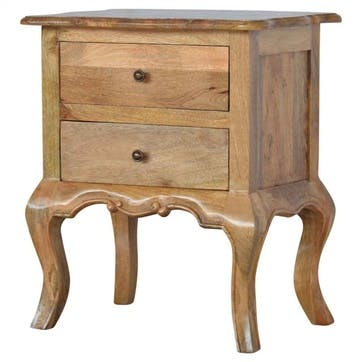 Chateau Bedside Table, Natural