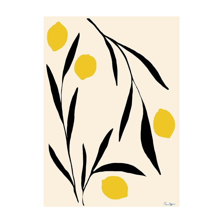 Lemon - Anna Morner Art Print D50cm x H70cm