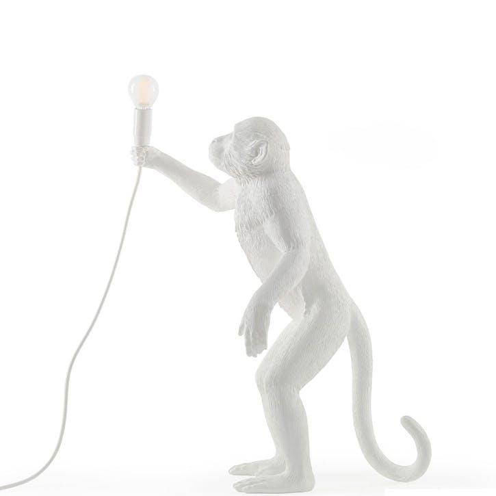 Monkey Lamp, Standing White