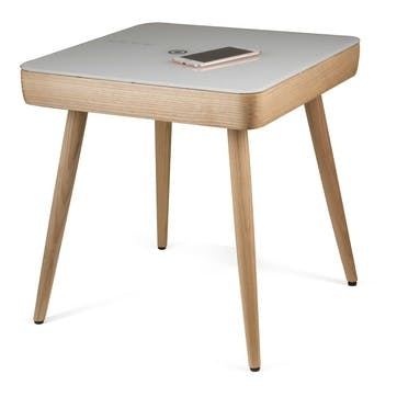 Carl Smart Side Table, White