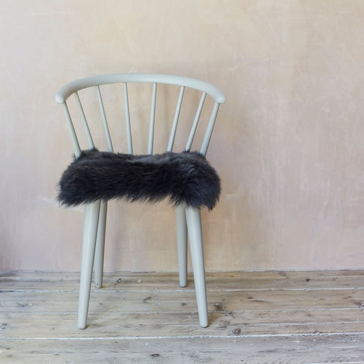 Sheepskin Seat Pad, Steel