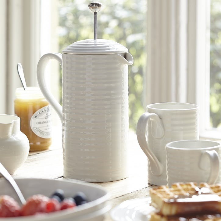 Cafetiere; White