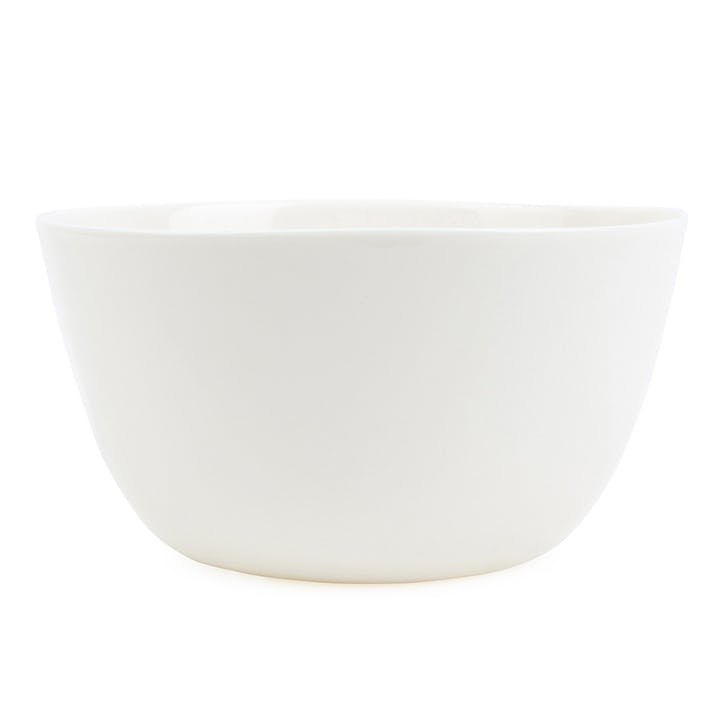 Porcelain Salad Bowl; Milk White