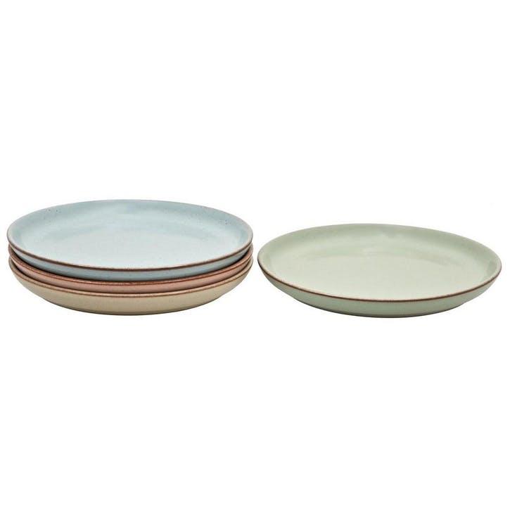 Always Entertaining Deli 4 Piece Coupe Dinner Plate Set