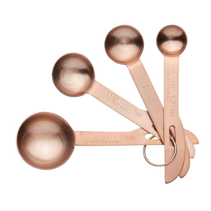 Copper Finish Measuring Spoon Set