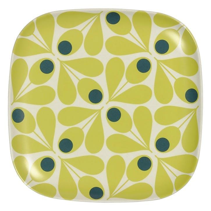 Bamboo Side Plate, Acorn Spot Yellow