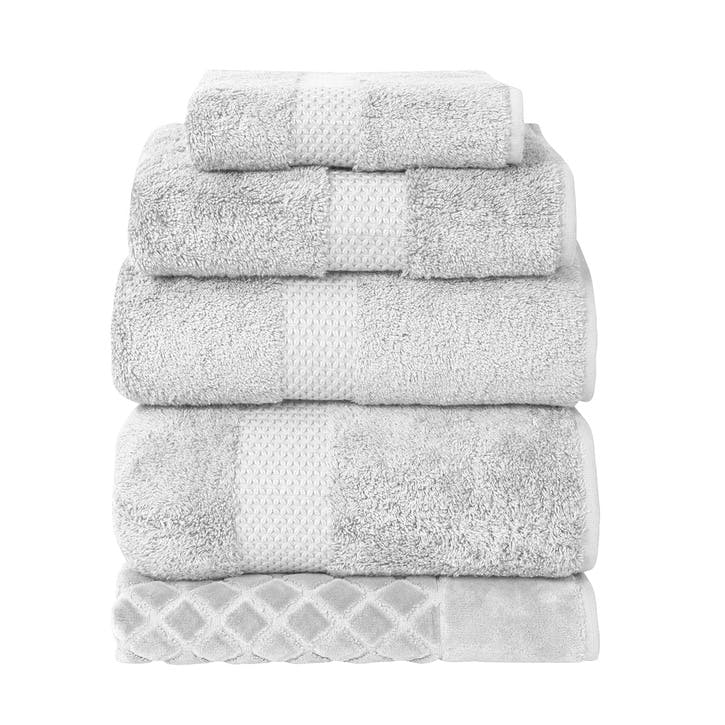 Etoile Bath Towel, Silver