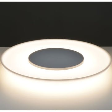 Saturn Table Light & Wireless Charging Plate, White
