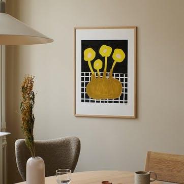 Flowers in Brown Vase, Madelen Mollard Art Print