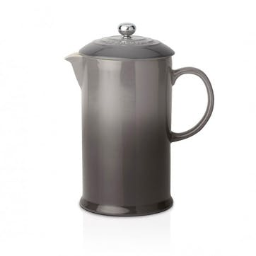 Stoneware Cafetiere with Metal Press; Flint