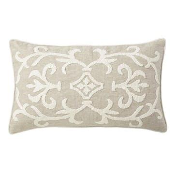 Gawain Cushion, Small, Natural/Off-White