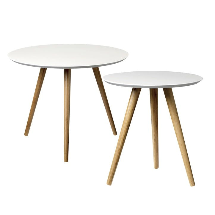 Nesting Coffee Tables, Set of 2, White