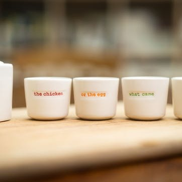 'What Came First' Set of 4 Egg Cups