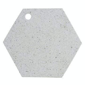 Elements Terrazzo Hexagon Serving Board