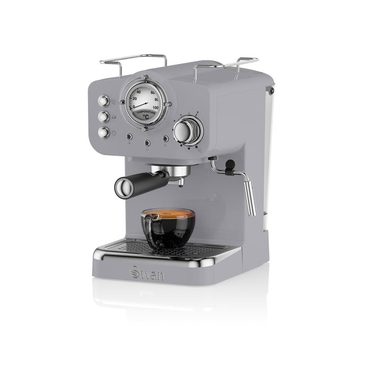 Retro Espresso Machine, Grey