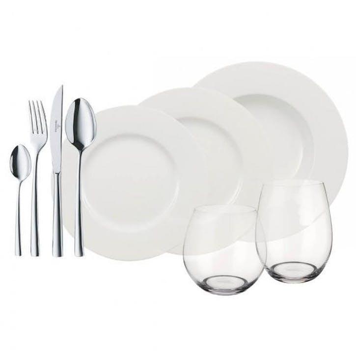 Wonderful World 36 Piece Dinner Set, White