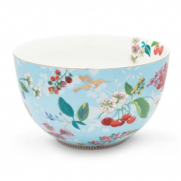 PiP Floral 2.0 Hummingbirds Bowl, Blue