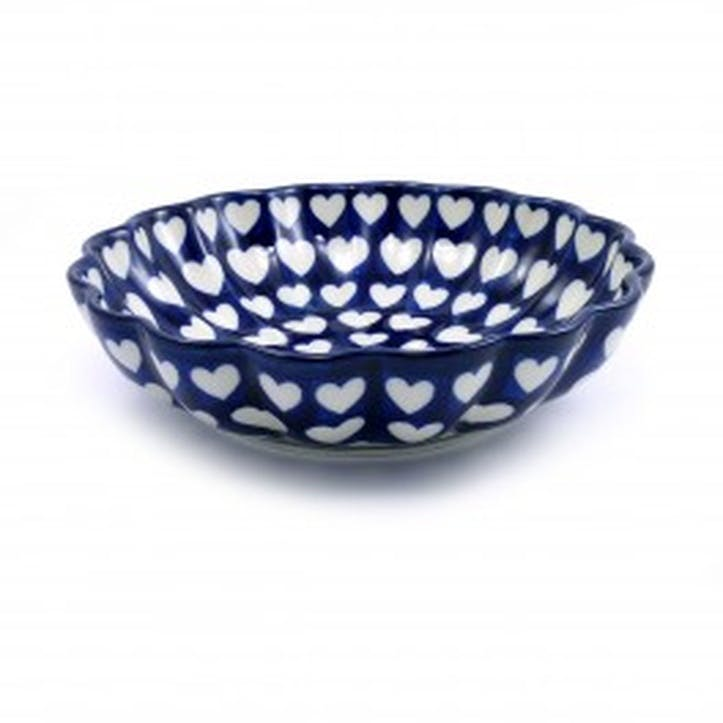 Hearts Frilled Bowl, 19cm
