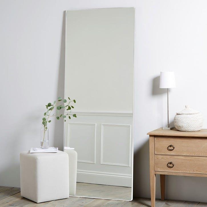 Chiltern Fine Metal Mirror, Floor Length, White