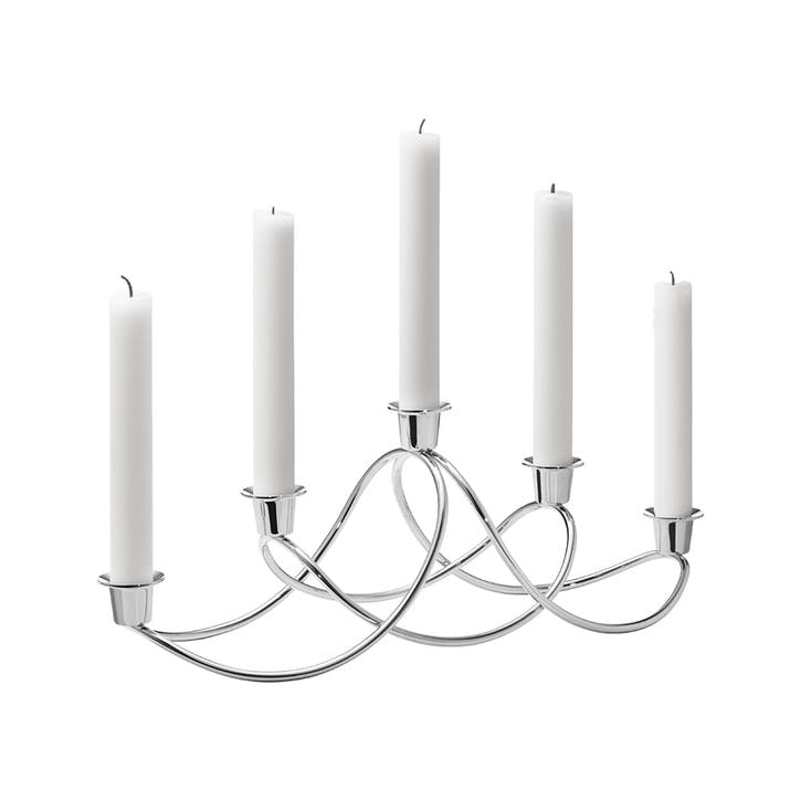 Harmony Candle Holder, Silver